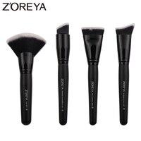 Zoreya Brand 4piece Set Super Women Foundation Make Up Brushes Set Professional Flat Contour Makeup Brush
