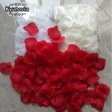 Kyunovia, 100 шт, лепестки роз, Petalos De Rosa, свадебные украшения, искусственные ткани, Свадебные лепестки роз D138