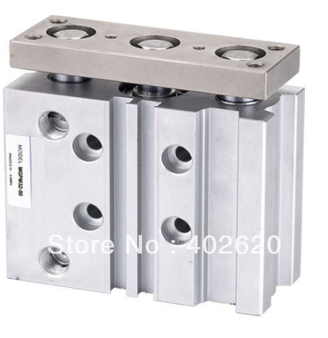 2pcs/lot, MGQM12-20 , 12mm bore, 20mm stroke SMC type three shaft, pneumatic air cylinder free shipping