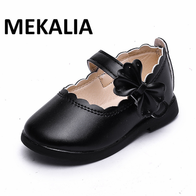 Fashion Girls Leather Shoes Cut-out Hit Color Heart Girls Dress Shoes Flat Shoes for Little Girls Princess Party Shoes PU ...