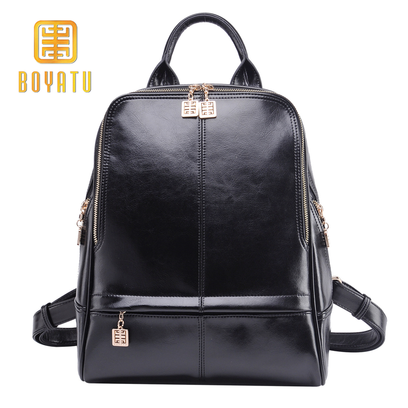 Genuine Leather Backpack Women Fashion School Backpack Female Sac A Dos Luxury Shoulder Bag 2018 High Quality Bagpack Mochila new fashion women bag messenger double shoulder bags designer backpack high quality nylon female backpack bolsas sac a dos