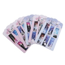 6 pcs/lot Cute Kawaii Flower Paper Bookmarks Creative  Magnetic Book Mark School Supplie
