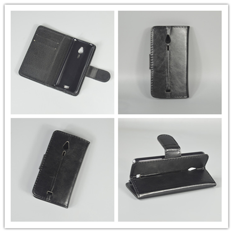 Crazy horse Flip leather <font><b>case</b></font> Credit Card Slots and stand function for <font><b>Nokia</b></font> <font><b>230</b></font> / <font><b>230</b></font> Dual SIM Free shipping image