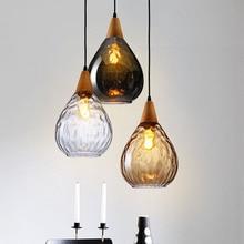 Bon Pendentifs En Verre Pour Lustres Lampe Cuisine Salle à Manger Café Lampe  Pendante Luminarias Loft Industriel Vintage Lustre