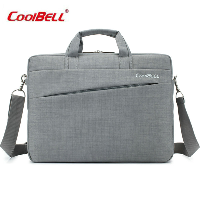 2017 COOLBELL Laptop Bag 14 inch Waterproof Nylon Laptop Case Men's Notebook Bag for Macbook Air 14 Pro Women Messenger Bags-FF big capacity nylon 13 3 14 15 6 inch laptop handbag black shoulder bag protective case cover for macbook pro air reina hp sony