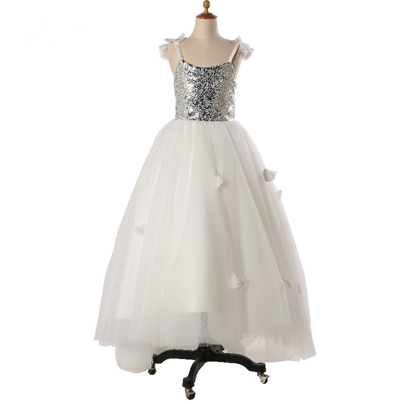 High Quality Custom Made 2017 Flower Girl Dresses Pageant Dress Ankle Length Birthday Party Ball Gown Holy Communion Dresses 2017 long sleeve pink kid flower dress scoop neck with lace and bow ball gown ankle length prom princess pageant custom made