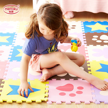 10 or 24pcs/lot Meitoku baby EVA foam puzzle play mat/ Interlocking Exercise floor carpet Tiles, Rug for kids,Each32X30cm 1cm цены