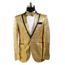 Gold Sequin Jacket Men Sequin Blazer Hombre Men Paillette Blazer Masculino Costume Homme Mens Blazer Jacket