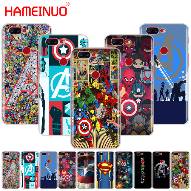 on sale 5a9d2 15271 US $1.64 34% OFF|HAMEINUO The Avengers Marvel Captain America cover phone  case for Oneplus one plus 5T 5 3 3t 2 X A3000 A5000-in Half-wrapped Case ...