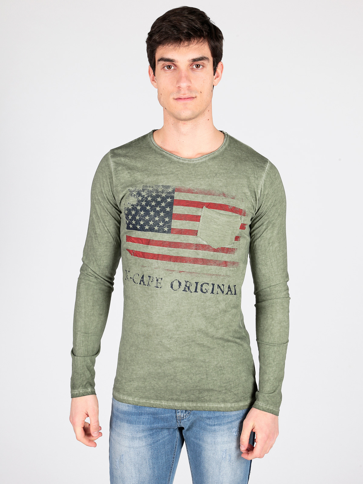 Vest With Pocket And Printing Flag