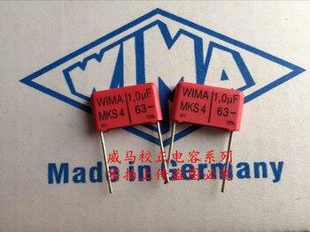 2019 hot sale 10pcs/20pcs German capacitor WIMA MKS4 63V 1UF 1.0UF 105 63V P: 15mm Audio capacitor free shipping цена 2017