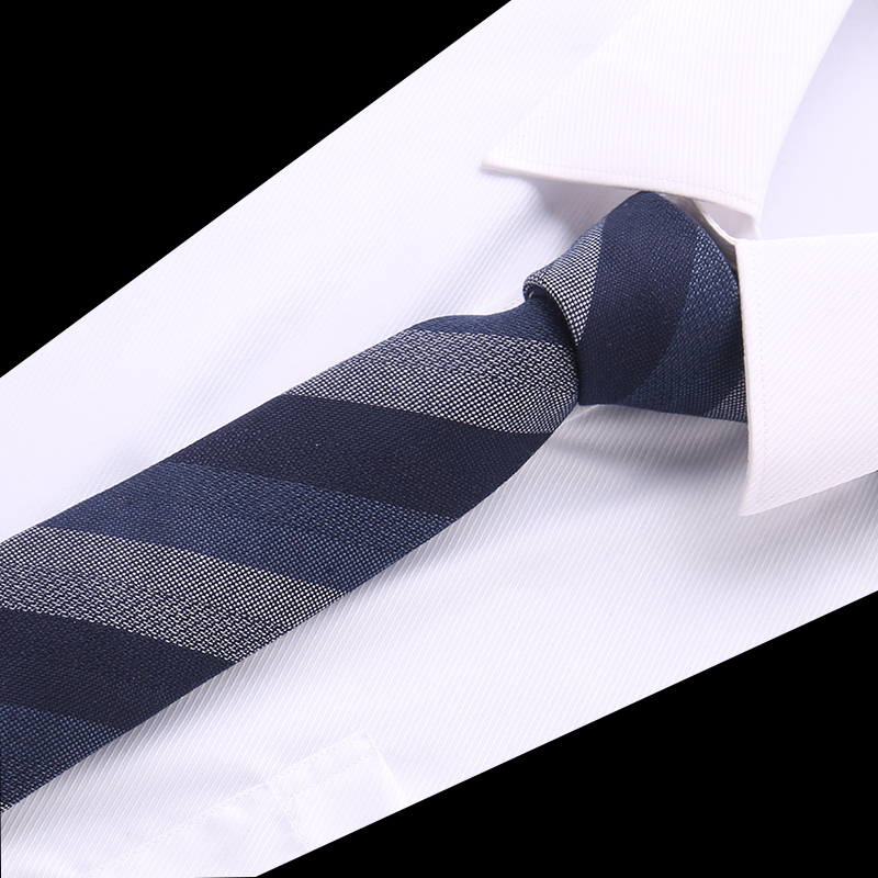 New Striped Tie For Men 145cm*8cm Necktie Blue Paisley Cotton Jacquard Woven Neck Tie Suit Wedding Party Slim Ties Men