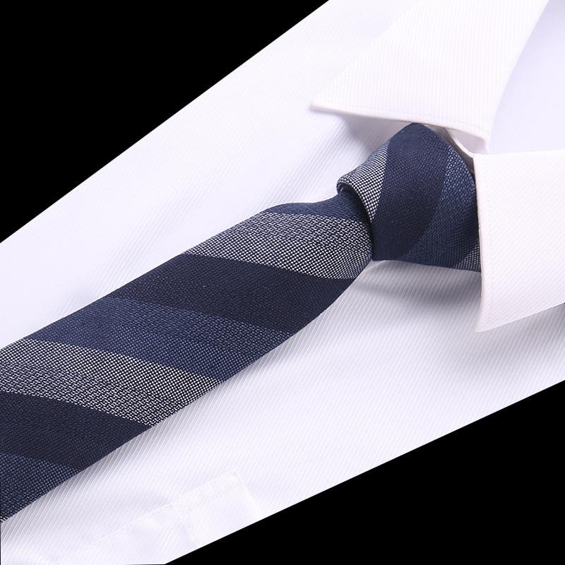 New Striped Tie For Men 145cm*8cm Necktie Blue Paisley Cotton Jacquard Woven Neck Tie Suit Wedding Party Slim Ties Men