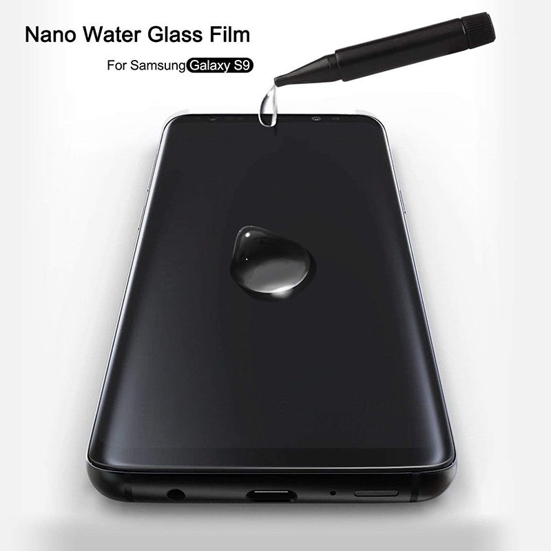 Suntaiho Nano UV Liquid full Glue Tempered Glass For Samsung Galaxy S10 Plus S9 plus case friendly glass Note9 Screen Protector