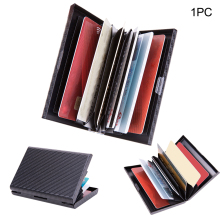 Storage Credit Card Holder Men Wallet Protective 6 Slots Anti Magnetic Security Bank Business Aluminum Alloy Case Box Travel