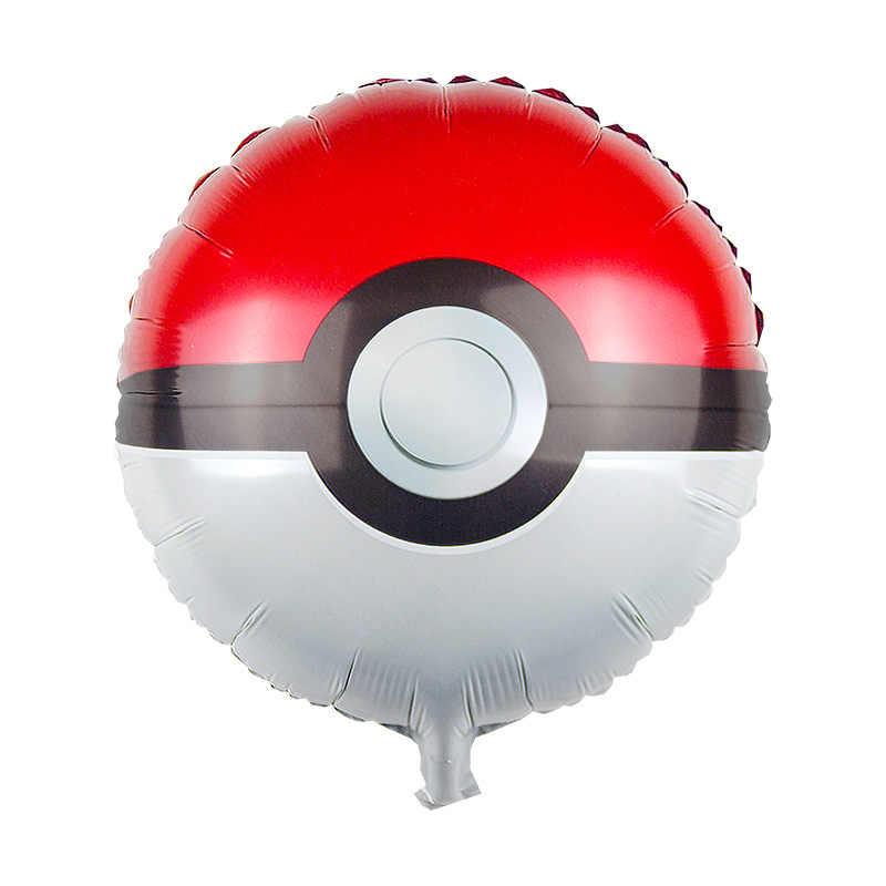 10 pcs/lot rond pikachu mignon Pokemon ballon PokeBalls feuille hélium ballons fête d'anniversaire fournitures décorations Globos jouet