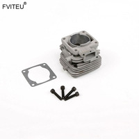 FVITEU 36cc 4 bolt cylinder for 360 engine Rovan 36cc engine for Rovan parts 1/5 gas rc baja engine spare parts