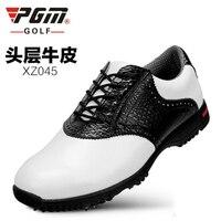 PGM Genuine leather waterproof patent men sport shoes activities nail anti-skid good grip resistant golf shoe