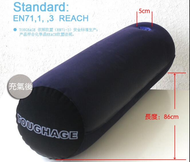 Multipurpose Adult Flirting Pillow PVC Inflatable Flocking Hug Pillow Couple Sex Posture Back Cushion