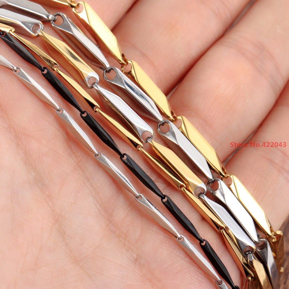 Dynamic New Arrival 16-40 Choosing 1/2/3/4mm Mens Womens Jewelry Silver Gold Polished Stainless Steel Stick Chain Necklace Handmade Chain Necklaces Jewelry & Accessories