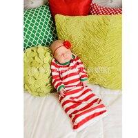 Cotton Baby Sleeping Bag Red Stripe Baby Sleepsack Autumn Pijamas Infantil Newborn Baby Sleep Sack Christmas