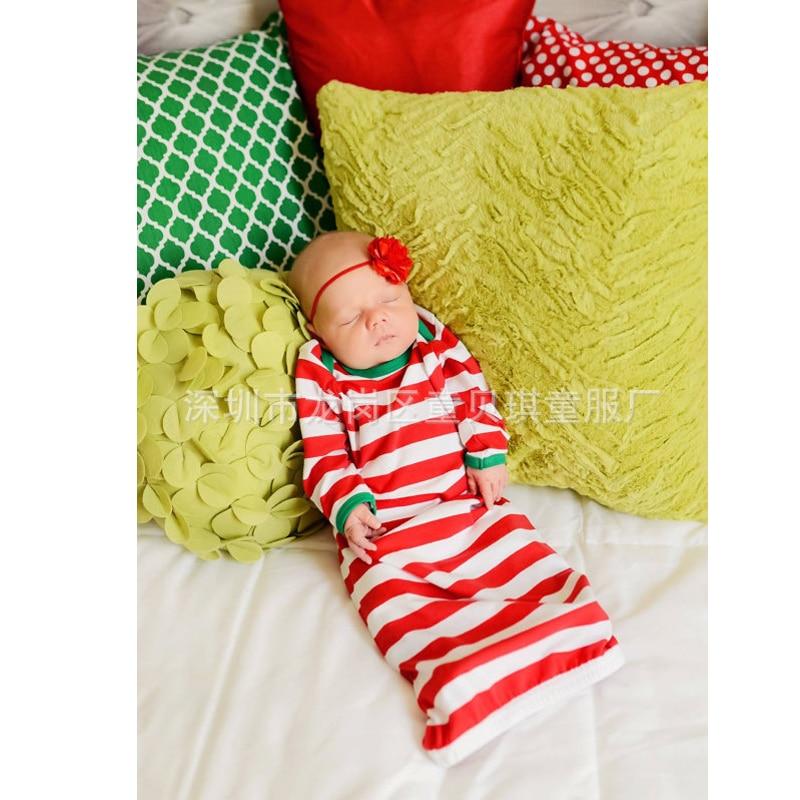 Cotton Baby Sleeping Bag Red Stripe Baby Sleepsack Autumn pijamas infantil Newborn Baby Sleep Sack Christmas Baby Sleepwear