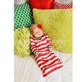 Otoño pijamas de algodón Saco de Dormir Del Bebé Raya Roja Bebé Sleepsack infantil Recién Nacido Saco de Dormir Del Bebé Bebé de la Navidad ropa de Dormir