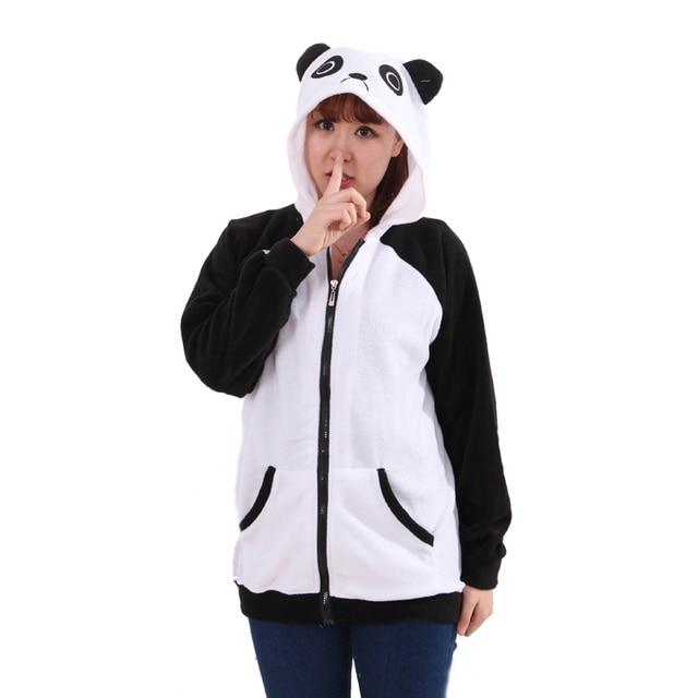 panda hoodie men women jacket with ears kawaii hoodies pulllover cute panda  couple panda hoodies off white 208e41e070