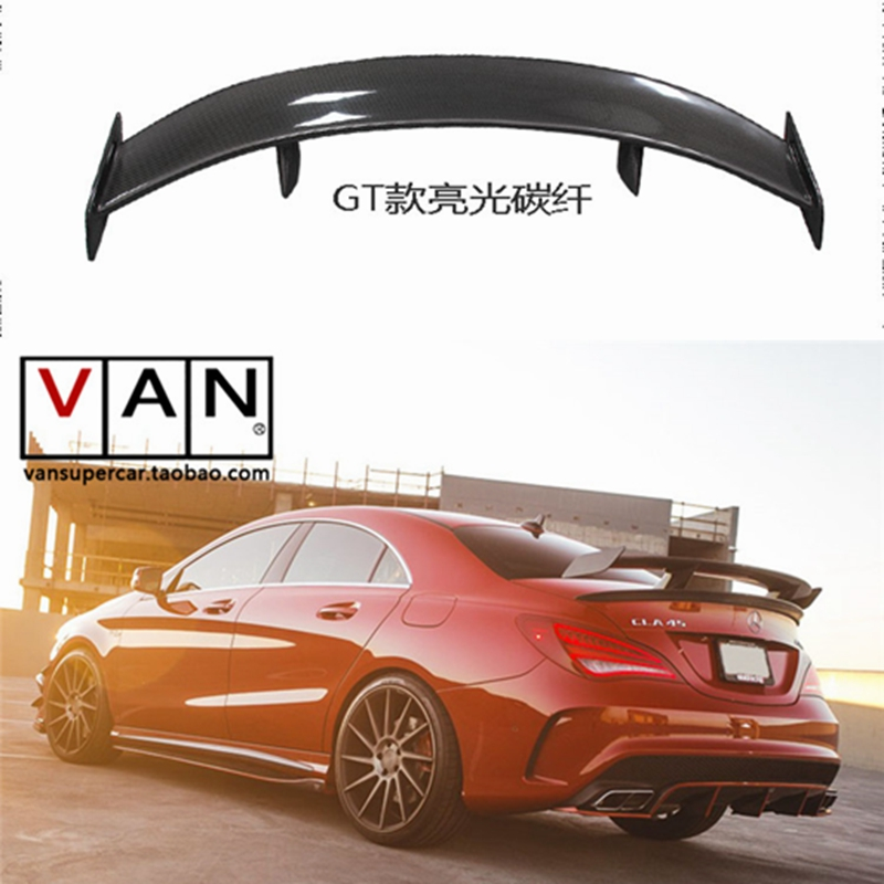GT Spoiler Wing Lid For Mercedes - Benz CLA CLASS W117 CLA45 Carbon Fiber Rear Trunk Spoiler 2013 2014 2015 2016 mercedes cla w117 carbon fiber fd style cf rear trunk spoiler wing for cla 180 cla200 cla250 2013 2014 2015 2016 page 5