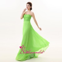 Alexzendra Green Chiffon Simple Long Sweetheart Bridesmaid Dresses Party Dress for Wedding Bridesmaids Gown