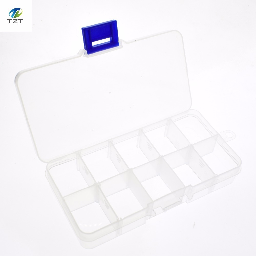 10 Grid can be remov transparent plastic small box kit storage box jewelry jewelry box electronic components parts finishing box