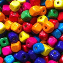 8mmMix Colored Wood Beads Cube Wooden Bead * *lot flatback other jewelry spacers