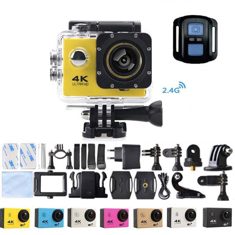 Moto F60R 4 k WIFI caméra d'action à distance 1080 p HD 16MP GO PRO Style casque caméra 30 mètres étanche sport DV caméra