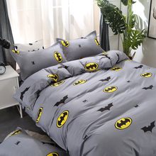 Home Textile 3/4pcs King Size Fink Lover Bedding Sets Duvet Cover Sets Pillowcases  Flat sheet Batman Dropshipping