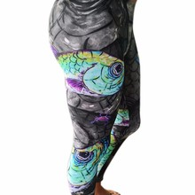 New Design Fashion Women Stretchy Leggings Fish Printed Skinny Long Pants Trousers for Women Clothing Plus Size 2016