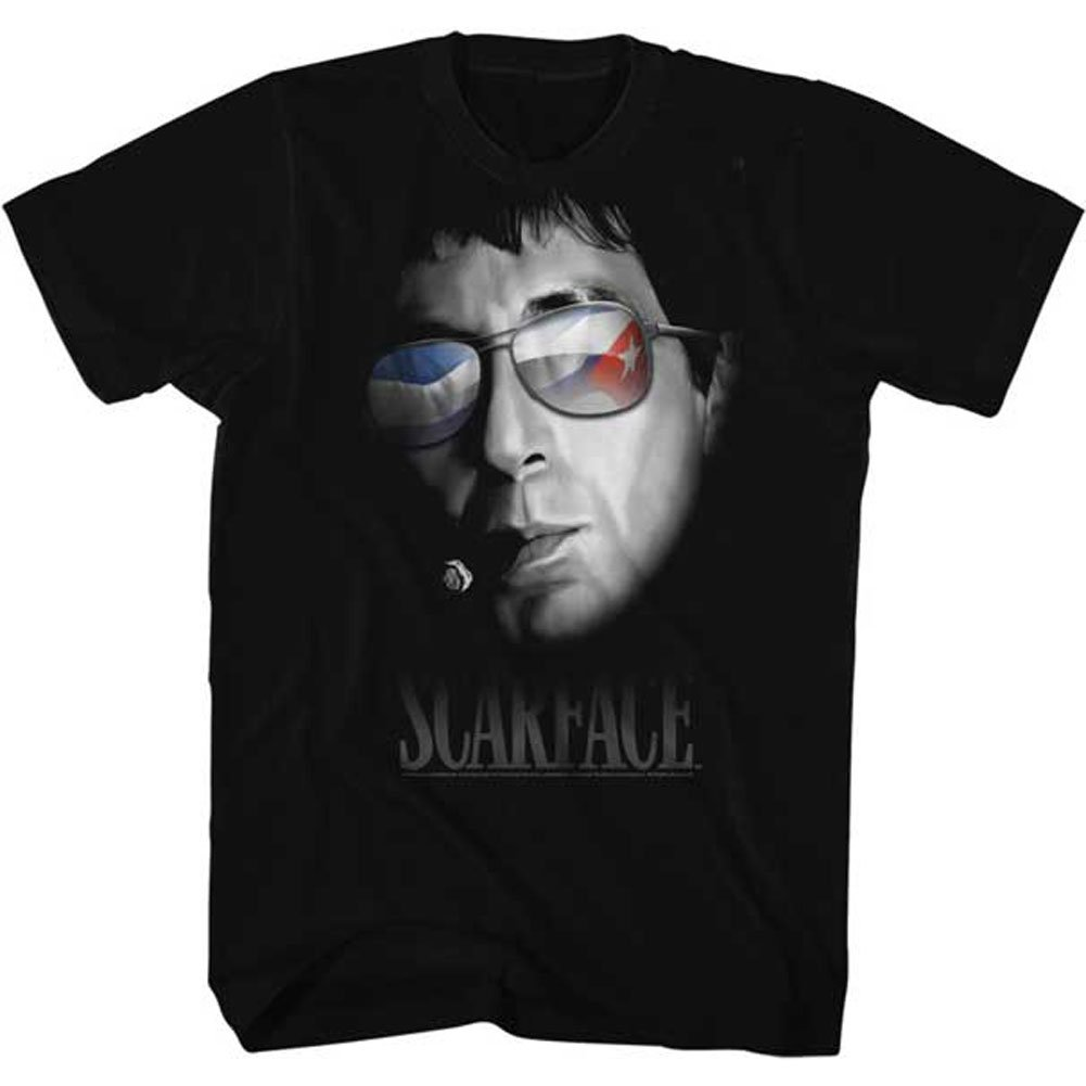 American Classic Scarface 1980s Gangster Criminal Movie Every Dog Portrait Sunglasses Adult T-shirt Print T Shirt Summer Style image