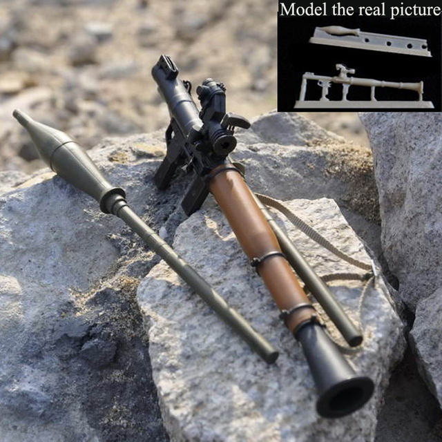 Toy 1/35 Resin Models Soldier RPG Rocket Launcher Resin Model Sand Scene Accessories