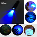 Zoomable Led UV Flashlight Torch Light 365nm Ultra Violet Light Blacklight UV Lamp AA Battery For Marker Money Cash Detector