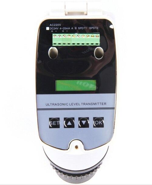 4 20MA entegre ultrasonik seviye ölçer/ultrasonik seviye verici/0 15 M ultrasonik su seviye ölçer DC24V sıvı sensörü