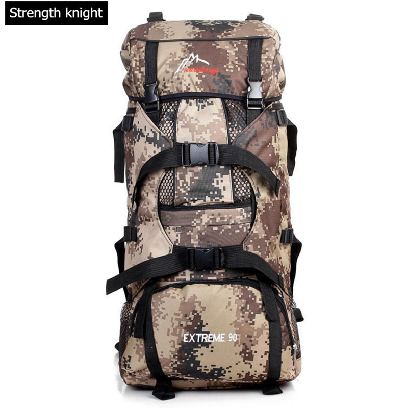 Men's Climb Backpacks 70L Waterproof Nylon Travel Mountaineering Bags Leisure Camouflage Backpack