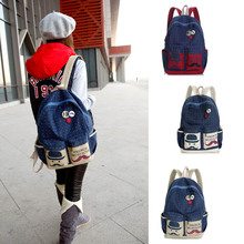 Fashion Women Backpack Candy Beard School Bag For Women Casual Dot Big Mustache  LT88