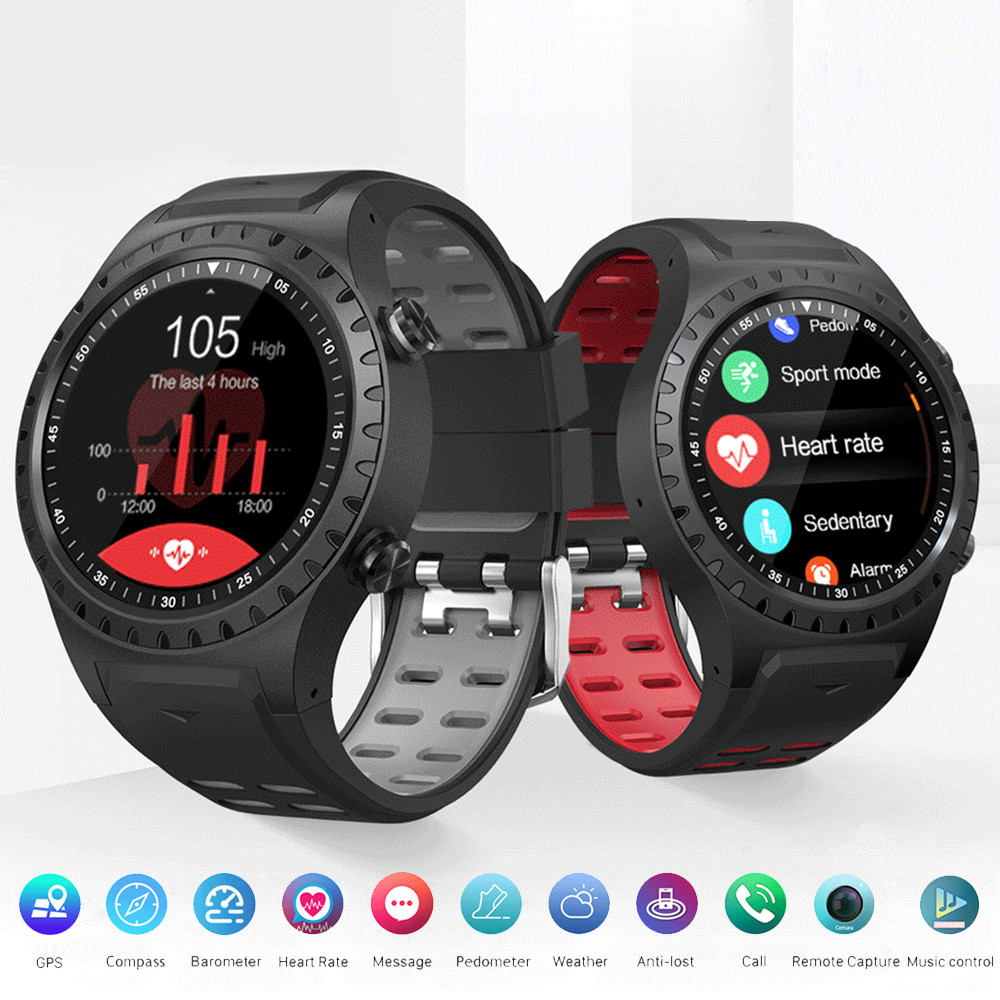 Hot GPS <font><b>M1</b></font> Smart <font><b>Watch</b></font> Call Multi-Sports Mode Compass Altitude Dail Call SIM Card Sports Color Screen Men Bluetooth SmartWatch image