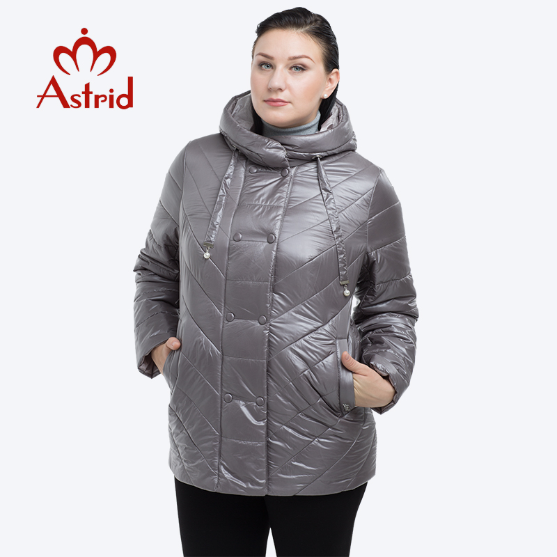 hot winter jacket coats women short Solid color warmth Hoodie female coat cotton zipper solid   parkas   plus Size officelady AM2209