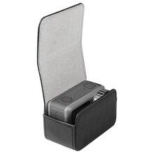 Leder Tasche Tragbare fall Magnetische schalter lagerung tasche für dji osmo action sport kamera Zubehör