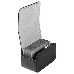 Image 1 - Sacchetto di cuoio caso Portatile interruttore Magnetico sacchetto di immagazzinaggio per dji osmo action macchina fotografica di sport Accessori