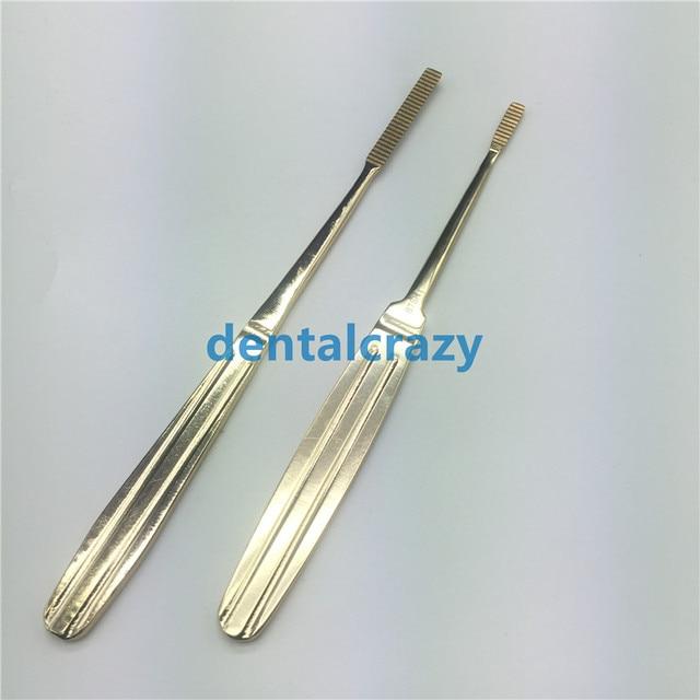 2019 מכירה לוהטת האף צרצור נירוסטה פלסטיק מכשירי ניתוח זהב ידית כלים