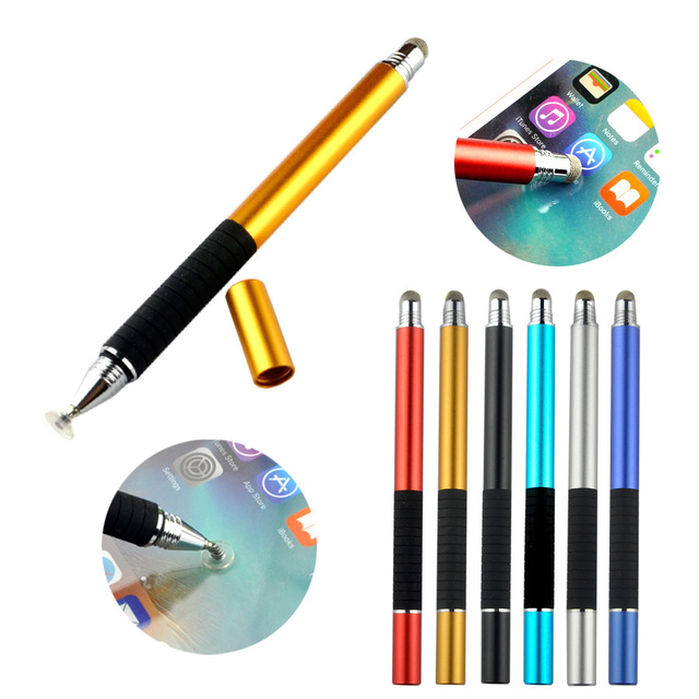 2X 2 in 1 Multifunction Fine Point Round Thin Tip Touch Screen Pen Capacitive Stylus For Smart Phone Tablet For iPad For iPhone