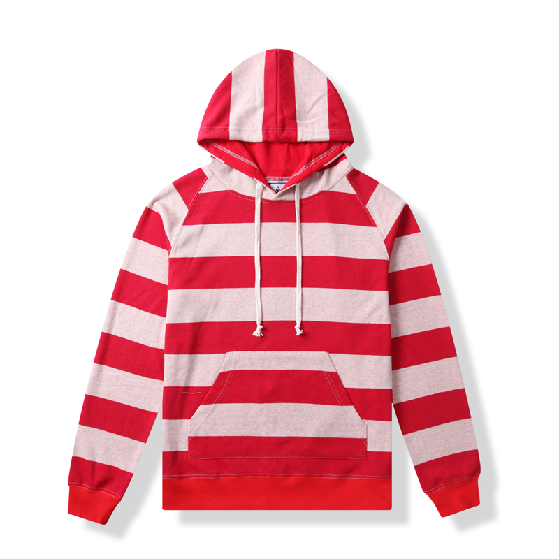 YI GUAN männer Casual Striped Hoodies/Kapuze Tasche Baumwolle Ziehen Schnur Sweatershirt Langarm Mantel, Freies Verschiffen