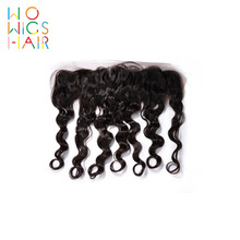 WoWigs Hair Deep Wave Lace Frontal Remy Natural Color 100% Human Free Shipping