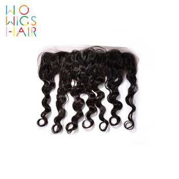 WoWigs Hair Deep Wave Lace Frontal Remy Hair Natural Color 100% Human Hair Free Shipping